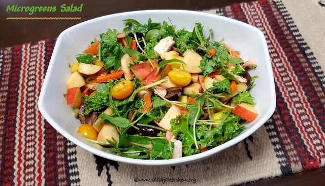 images of Microgreens Salad / Homegrown Microgreens Salad Recipe - Healthy salad Recipe