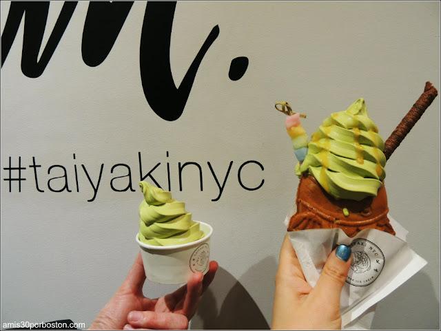 Taiyaki y Helado de Matcha en Nueva York