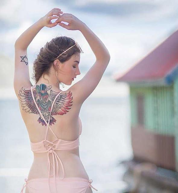 """2 """"thánh nữ xăm mình"""" Thái Lan, Brazil: Da trắng như bông bưởi vẫn để """"dính mực"""""""