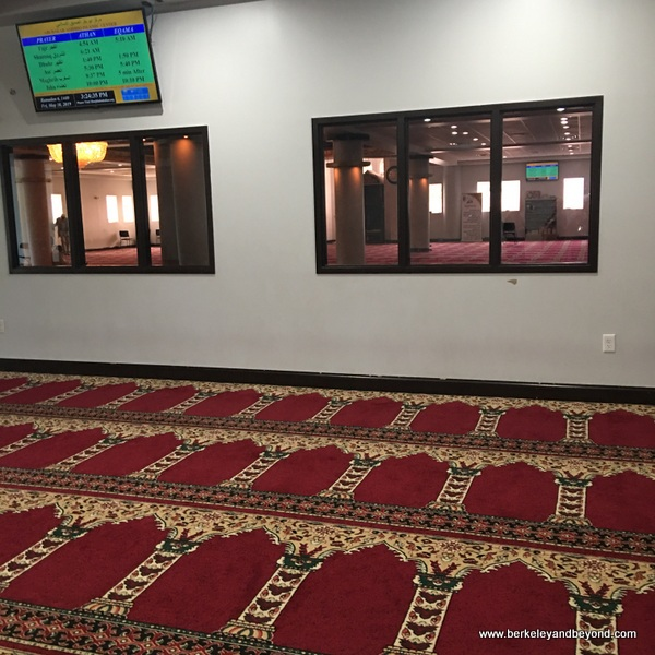 women's side of mosque at Abubakar Assidiq Islamic Center in Columbus, Ohio