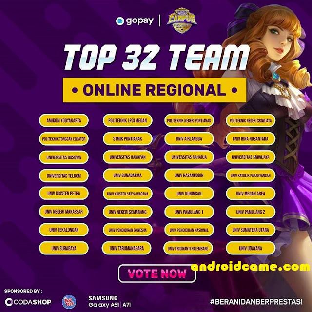 Cek Daftar Top 32 Online Regional Mobile Legends Di Seluruh Indonesia