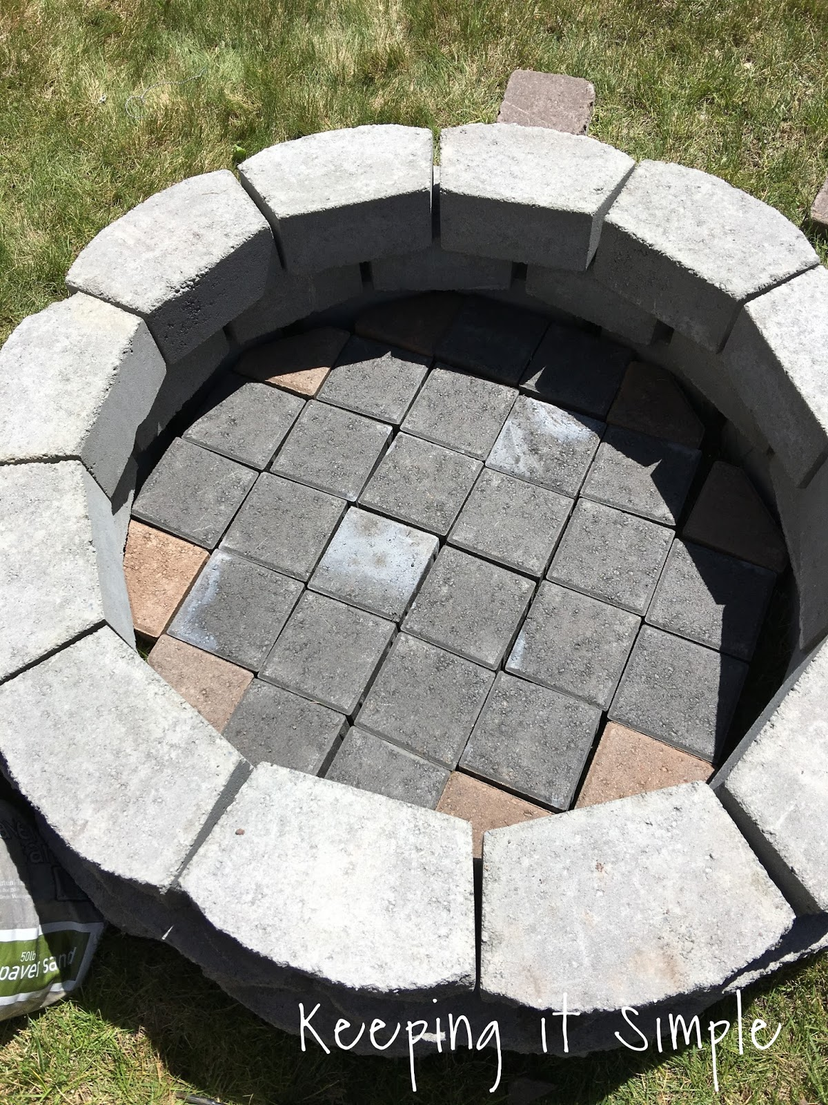 how to build a diy fire pit for only 60 keeping it simple - Firepit Ideas