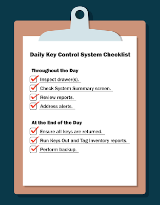 Daily Key Control System Checklist