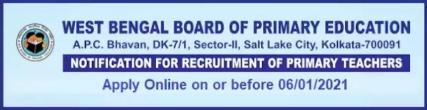 WBBPE Primary Teacher Recruitment 2020-21