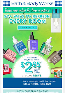 Bath & Body Works | Wednesday's Email Preview - Wallflower Bulb Sale - February 5, 2020