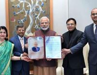 For Visionary Leadership, PM Narendra Modi Honoured with Presidential Award