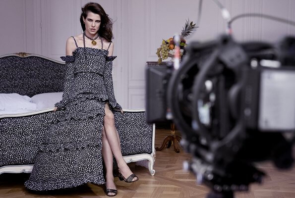 Charlotte Casiraghi took part in the first photo shoot of the Spring Summer 2021 advertising campaign of Chanel. Princess Caroline of Monaco