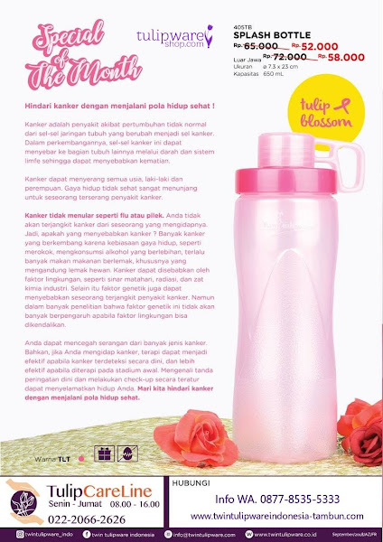 Promo Harga Spesial Oktober 2018, Splash Bottle