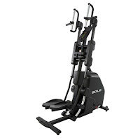 Sole CC81 Cardio Climber for HIIT training, combines stepping & climbing exercise, with 250 lb flywheel, 20 ECB resistance levels, 10 programs, Bluetooth