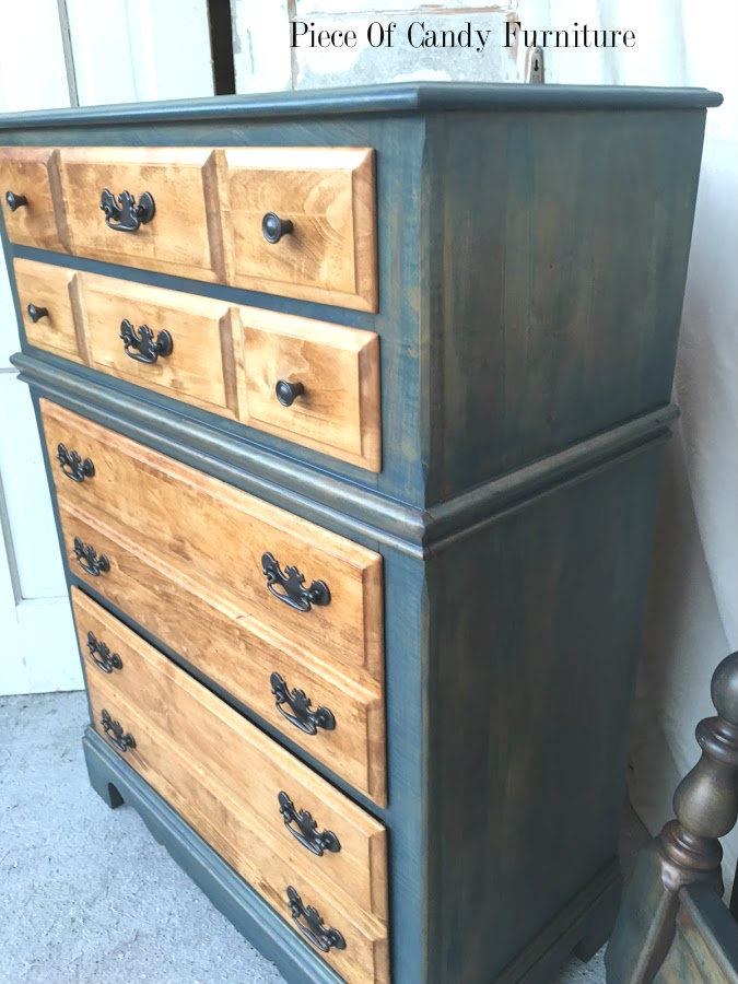 Piece Of Candy Furniture Stained Navy Blue Bedroom Set