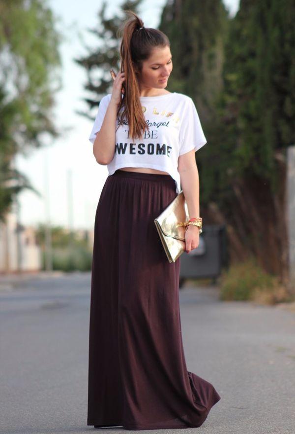 cbbd386234 Nuevas faldas largas de moda