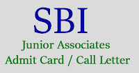 sbi junior associates admit Card 2016