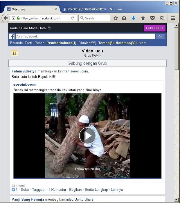 cara cepat mendownload video di facebook tanpa aplikasi
