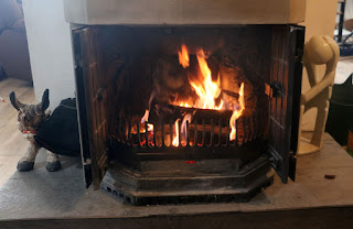 Lovely open fire, just very smoky indeed