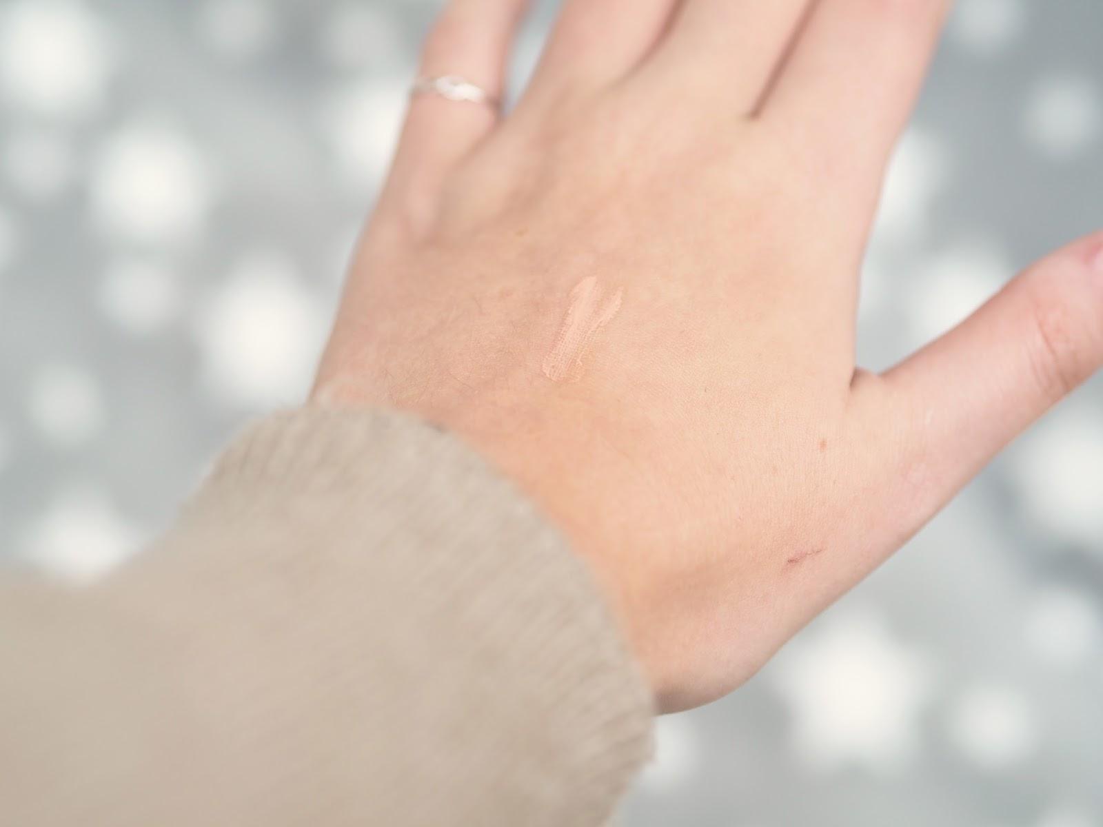 The Body Shop Instaglow Peachy Glow CC Cream Swatch