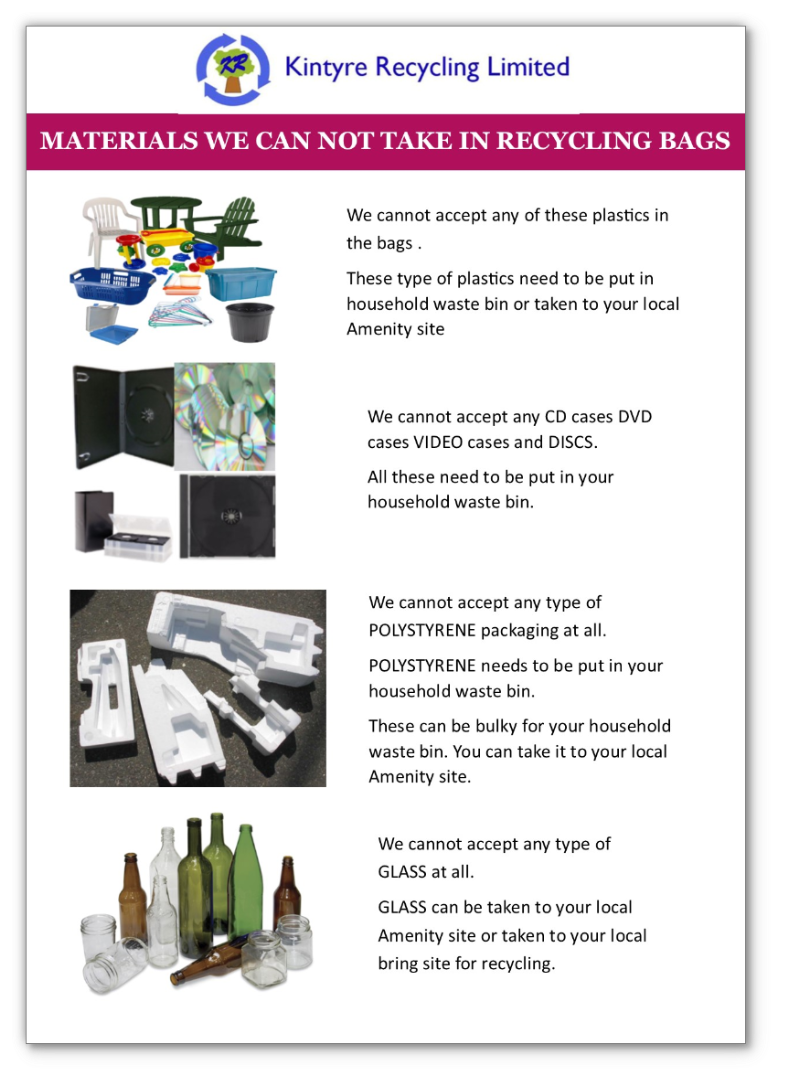 Kintyre Recycling Ltd What We Dont Take Email This Blogthis Share To Twitter Facebook Pinterest