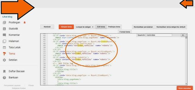 URL yang dikirimkan ditandai 'noindex'