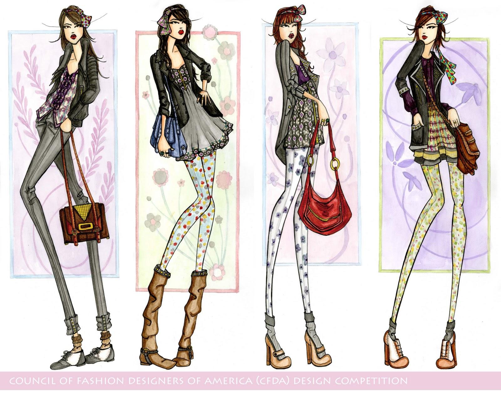 Fashion Illustrations and Flats | Brittany Matyas' Fashion ...