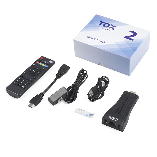 Android 10.0 TV Box TOX2 TV Stick With 100M WLAN Quad Core 5G Dual Wifi BT5.0 4K Android 10 Smart Media Player TV Dongle
