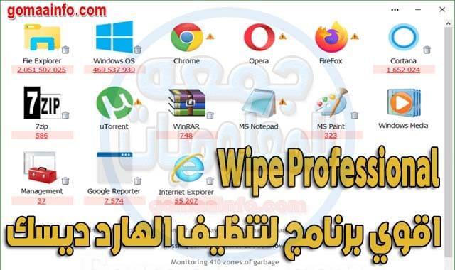 برنامج تنظيف الهارد ديسك Wipe Professional
