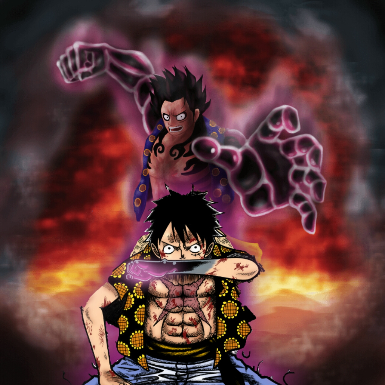 """The mechanics of gear fourth are quite a bit more complicated than those of gear second or gear third, but the driving theme seems to be """"compression"""". luffy has mastered his 4th gear - Anime Teory"""