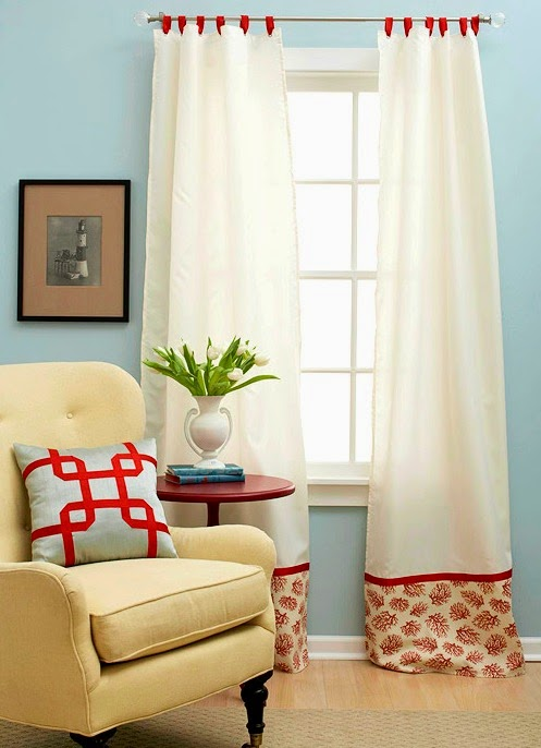 DIY Window Treatment Idea with Shower Curtains