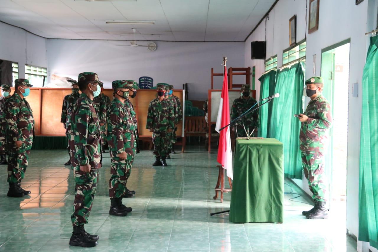 Dandim Ngawi Pimpin Serah Terima Jabatan Danramil Dan Perwira Staf