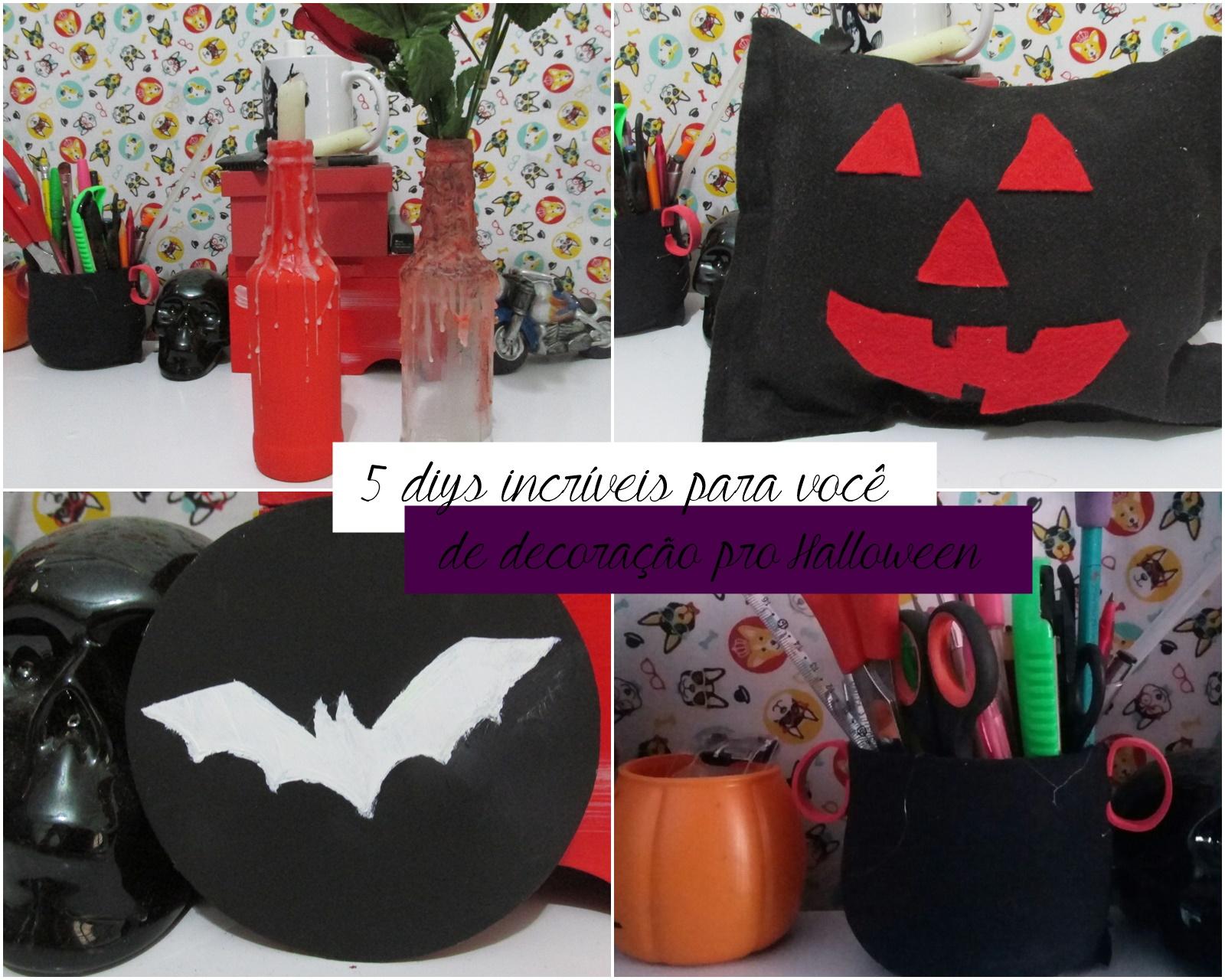 5 diys incríveis de decoração para o Halloween