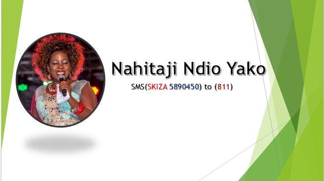 Nahitaji Ndio Yako Lyrics By Gloria Muliro