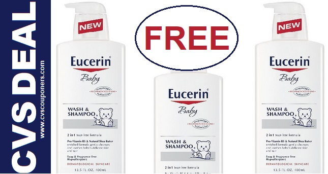 Eucerin Baby Wash CVS Freebie Deal 10 6 10 12