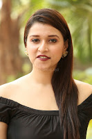 Mannara Chopra in Short Off Shoulder Black Dress ~  Exclusive 034.JPG