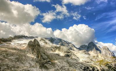 Marmolada-ritiro ghiacciaio-clima-cambiamenti climatici