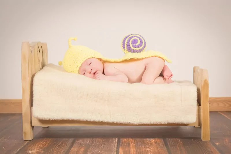 cute baby sleep with yellow dress