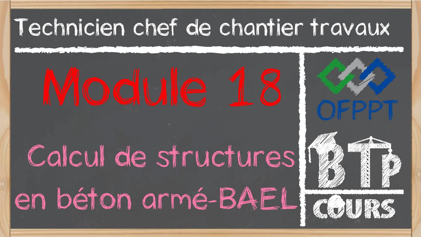 style le plus récent 100% de qualité sortie d'usine Module 18. Calcul de structures en béton armé-BAEL (Chef de ...