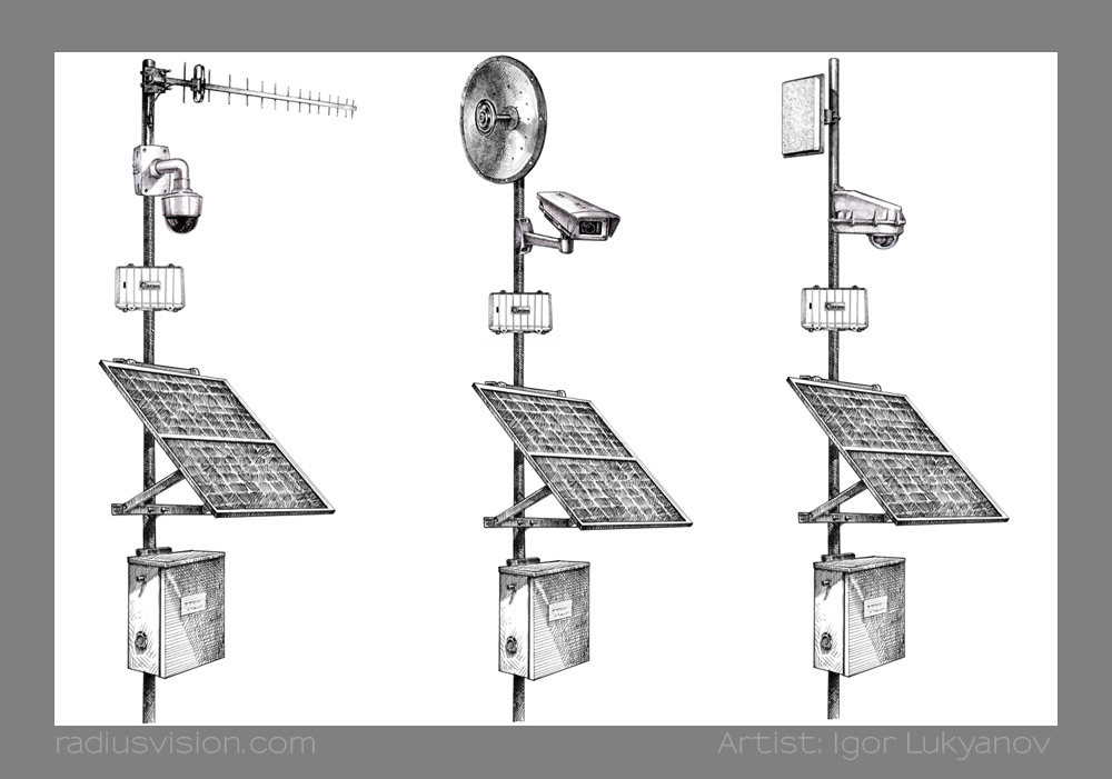 Technical Illustrations For Ip Video Systems Business