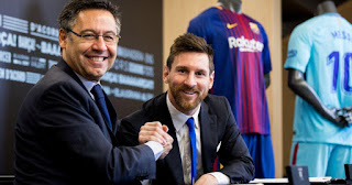 Barcelona president Bartomeu to meet with Messi's father on Wednesday to discuss player's future