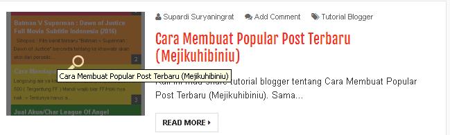 Cara Menambahkan Title Pada Gambar di Halaman Depan Blog