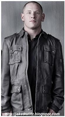 Gambar Jaket Kulit Personil Slipknot Corey Todd Taylor