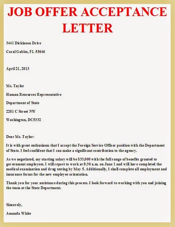 job%2Boffer%2Bacceptance%2Bletter Sample Acceptance Letter Job Application on