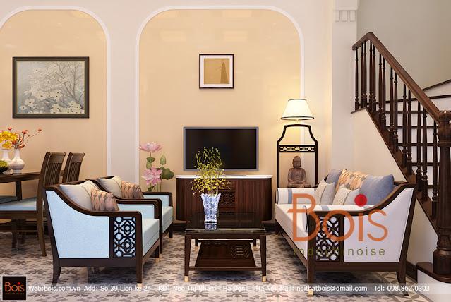 ảnh Mẫu Thiết kế nội thất phong cách Đông Dương - Bois Indochinois