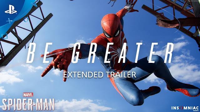 شاهد بالفيديو عرض إطلاق سينمائي رهيب للعبة Spider-Man ، مستوى عالي جدا !