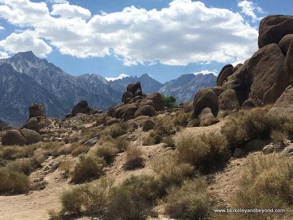 Mt. Whitney behind Alabama Hills in Lone Pine, California