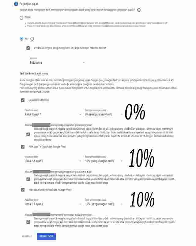 Isi Pajak Google Adsense Dan YouTube