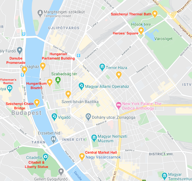 Things to do in Budapest - Google Maps
