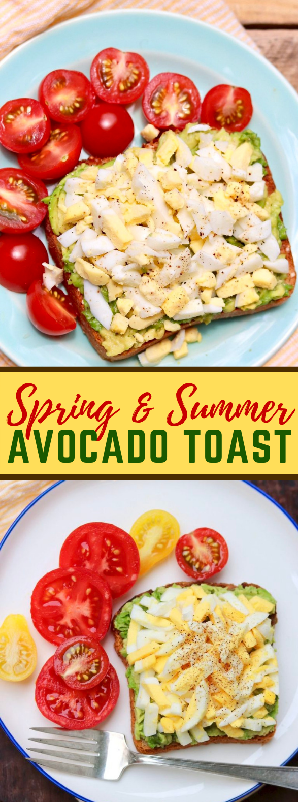 Spring & Summer Avocado Toast #healthy #easy