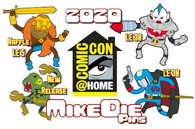 San Diego Comic-Con 2020 Exclusive Masters of the Universe, G.I. Joe & Mr. T Pins by MikeDie