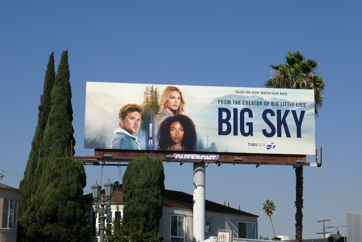 Big Sky series launch billboard