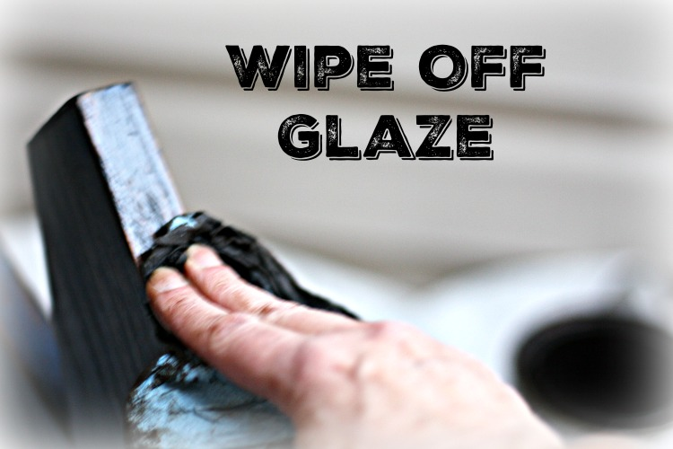 Wipe off excess glaze with a shop towel