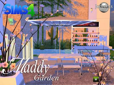 Maddy modern Garden set. Мэдди современный садовый гарнитур для The Sims 4 современный диван в 4 цветах.1 бар в 3 цветах. 1 часть 2 для прутка металлического. 10 бутылок, чтобы положить на барта, часть 2, я использую bb Move Objects для некоторых бутылок, но если вы не используете кодовые бутылки, поместите 1. на 2,1 декоративный гигантский металлический зонт и 3 разные текстуры.1 обеденный стол и стул на разной поверхности и в 4 цветах и металле. гигантские анимированные свечи в 4 разных цветах. Неоновый свет для бара поменяйте цвет на свет и разместите его без кода. Светлый неон х4 и для бар части 2. Поместите его без кода и измените цвет. 1 сигнальная лампа для барной части 2 поместите ее без кода. Весь свет в категории торшер. Свечи тоже. 1 барный стул металлический и 3 разных цвета. Современный набор для вашего интерьера. Создайте свой садовый уголок. Автор: jomsims