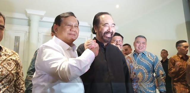 Jokowi Minta Prabowo Jadi Juru Damai Mega-Paloh?